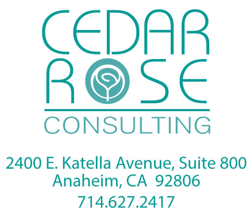 Cedar Rose Consulting logo and contact information